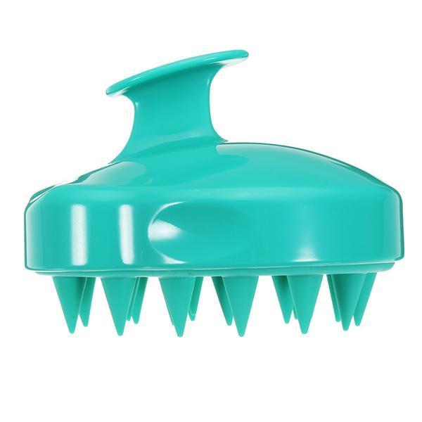 Perie verde pentru curatarea scalpului, Beyoutiful, din silicon, recomandata tuturor inclusiv copiilor,curatare delicata, maseaza, elimina eficient excesul de sebum, fara baterii, rezistenta la apa