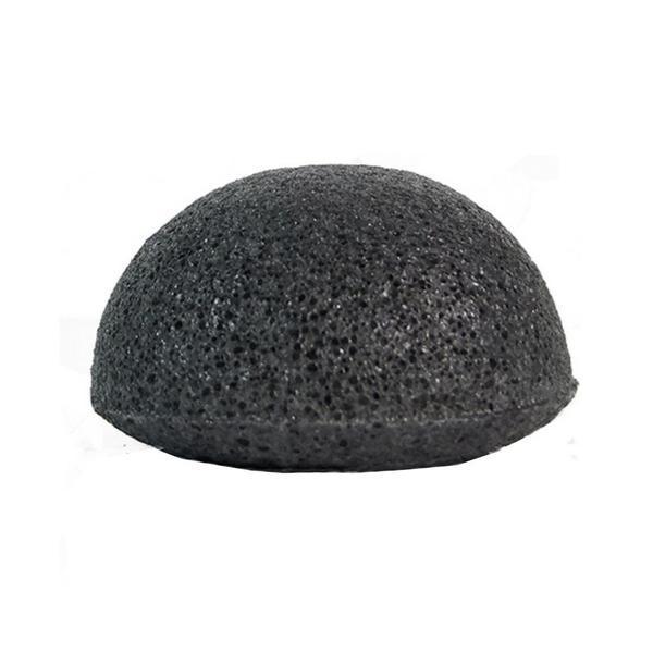 Burete natural Pure Konjac Negru pentru curatarea zilnica a tenului cuperozic, cu continut de carbune imagine produs