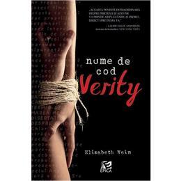 Nume de cod: Verity - Elizabeth Wein, editura Epica