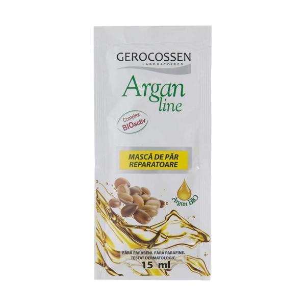 Masca de Par Reparatoare Argan Line Gerocossen, 15 ml poza
