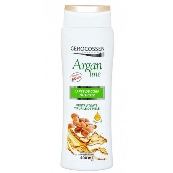 Lapte de Corp Nutritiv Argan Line Gerocossen, 400 ml poza