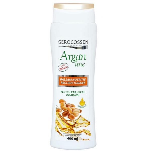 Balsam Nutritiv Restructurant Argan Line Gerocossen, 400 ml poza