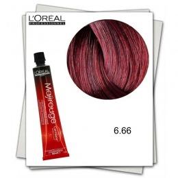 Vopsea Permanenta - L'Oreal Professionnel Majirouge Carmilane 6.66 C rosu mahon