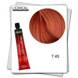Vopsea Permanenta - L'Oreal Professionnel Majirouge Carmilane 7.45 blond aramiu acaju