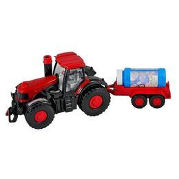 Tractor cu remorca care merge, face baloane, cu sunete si lumini - Muzi LTD
