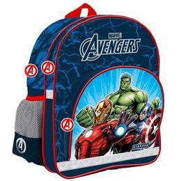 Ghiozdan Avengers, pentru scoala, 3 compartimente, 37x30x17 cm