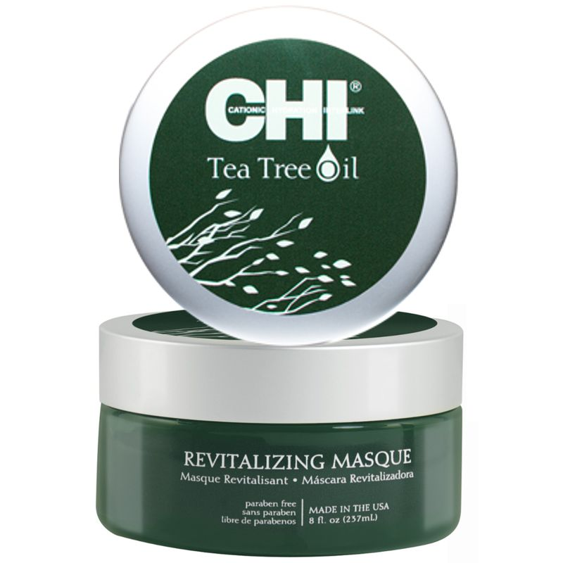 Masca pentru Scalp Sensibil - CHI Farouk Tea Tree Oil Revitalizing Masque 237 ml imagine produs