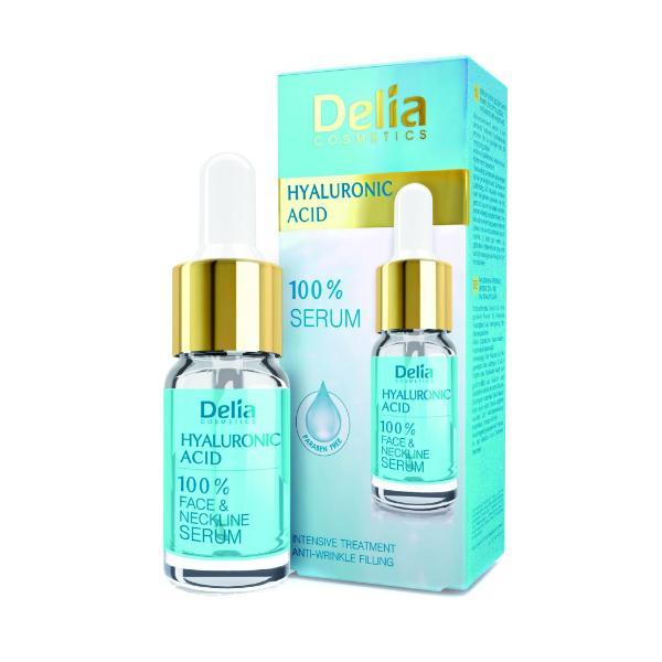 Ser cu Acid Hialuronic pentru Fata si Decolteu Delia Cosmetics, 10ml poza
