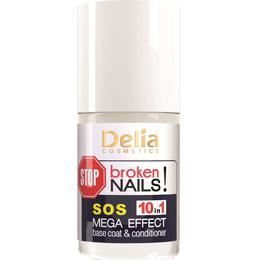 Baza si Balsam pentru Unghii SOS Mega Effect 10 in 1 Delia Cosmetics, 11ml