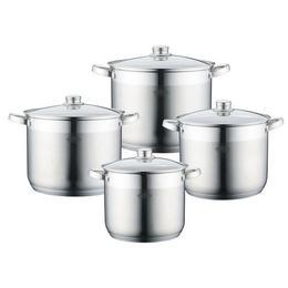 Set 4 oale inox cu capac sticla, Peterhof PH-15842, 7L, 9L, 10.8L 12.5L