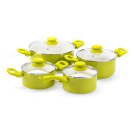 Set De Oale Cu Invelis Cermaic 8 Piese Verde Fusion Fresh Green