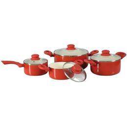 Set De Oale Cu Invelis Cermaic 8 Piese Rosu Fusion Fresh Red