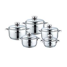 Set cratite 10 piese Royalty Line, capac metalic, inductie
