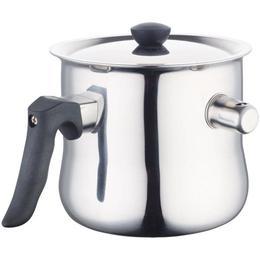 Oala de lapte Barton Steel BS 1008-30, 2.7 litri, cu capac, avertizare sonora, inox