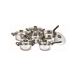 Set oale inox FLORIA ZLN-1167, 6 oale inox, 6 capace sticla, Manere bachelita, Fund dublu