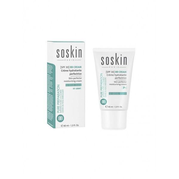 Crema de zi ten Ten perfector & hidratare Soskin BB Cream Light SPF 30, 40ml