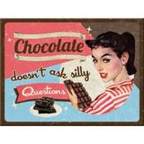 Magnet frigider - Chocolate Doesn't Ask - ArtGarage