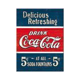 Magnet frigider - Coca-Cola - Delicious Refreshing - ArtGarage