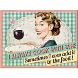 Magnet frigider - Cook With Wine - ArtGarage