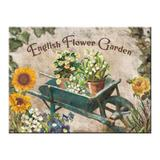 Magnet frigider - Flower Garden Blue Barrow - ArtGarage