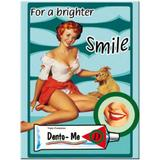 Magnet frigider - Pin Up - For a Brighter Smile - ArtGarage