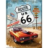 Magnet frigider - Route 66 Red car