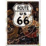 Magnet frigider - Route 66 Map - ArtGarage