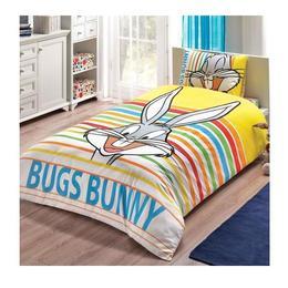 Lenjerie de pat TAC Bugs Bunny, 100% bumbac ranforce, 3 piese