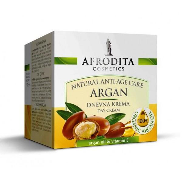 Cosmetica Afrodita - Crema de Zi pentru orice ten Argan 50 ml imagine produs