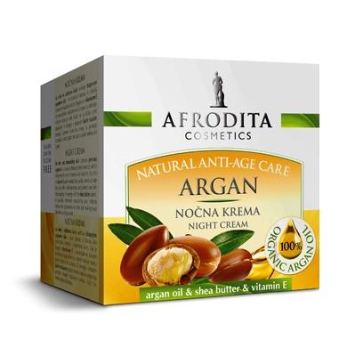 Cosmetica Afrodita - Crema de Noapte pentru ten uscat Argan 50 ml esteto.ro