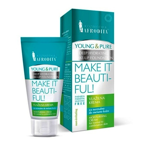Cosmetica Afrodita - Crema Hidratanta Young & Pure MOISTURISING CREAM 50 ml imagine produs