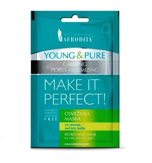 Cosmetica Afrodita - Masca Young & Pure Refreshing Mask 5 ml + 5 ml imagine produs