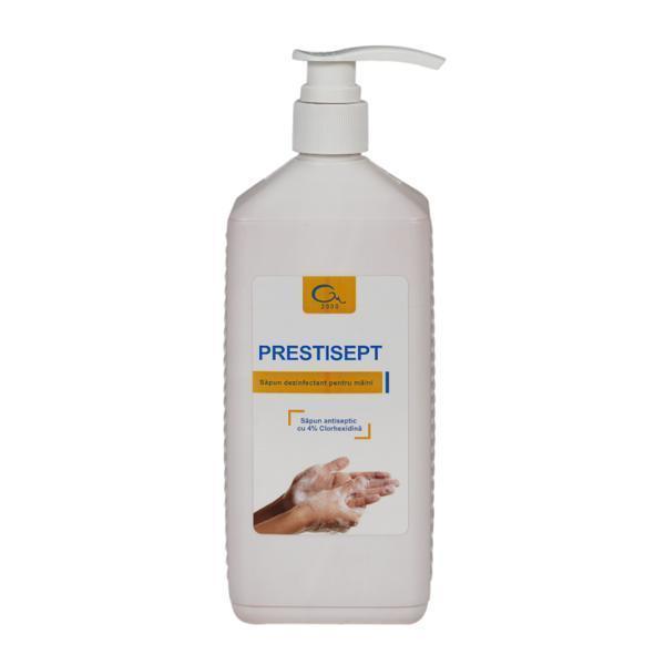Sapun lichid dezinfectant pentru maini Prestisept 1 litru + dozator esteto.ro