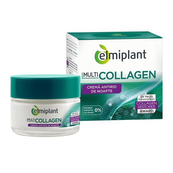 Collagen Crema Antirid Noapte Elmiplant, 50ml imagine produs