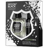 Set Cadou pentru Barbati Moon Black Legendary Florgarden - Lotiune dupa Barbierit 100ml + Parfum Deodorant 100ml