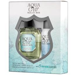 Set Cadou pentru Barbati Aqua G10 Florgarden – Lotiune dupa Barbierit 100ml + Parfum Deodorant 100ml de la esteto.ro
