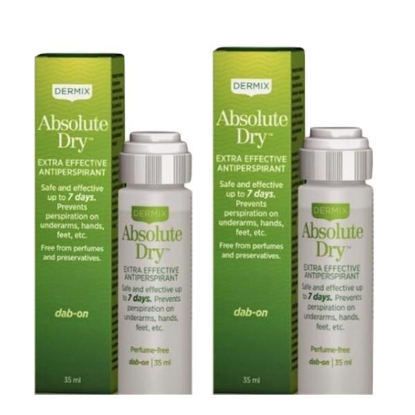 Set cadou 2 Antiperspirante Absolute Dry, Dermix, 7 days effect, 35 ml + 35 ml poza