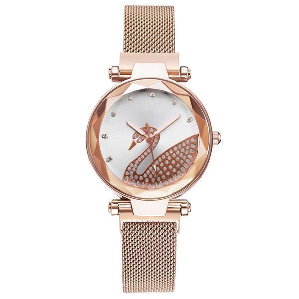 Ceas de dama elegant Geneva CS1072, model Starry Sky, bratara magnetica