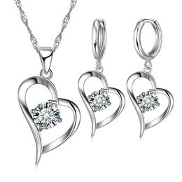 Set bijuterii: cercei + lantisor, placate cu argint 925 - SSMEDIA