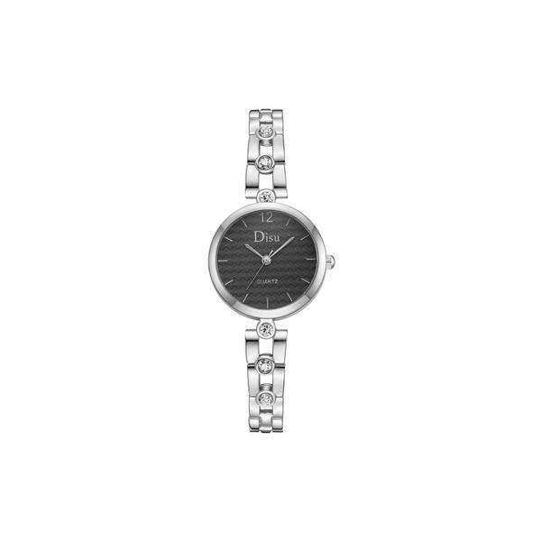 Ceas de dama elegant Disu CS1076, bratara metalica, model negru