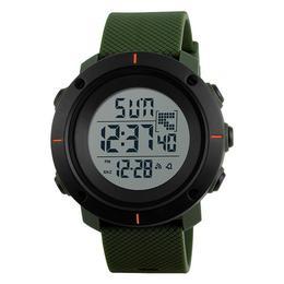 Ceas Barbatesc SKMEI CS1089, curea silicon, digital watch, functie cronometru, alarma, model verde