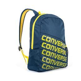 Ghiozdan de scoala Converse, Universal, 42 cm, Albastru cu scris galben
