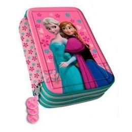 Penar Disney Frozen Anna si Elsa cu 3 compartimente echipat 44 piese