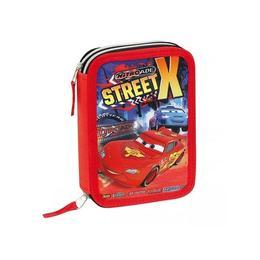 Penar Disney Cars Street X baieti cu 2 compartimente echipat 30 piese