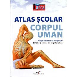 Atlas scolar. Corpul uman, editura Cd Press