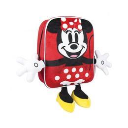 Ghiozdan pentru gradinita, Minnie Mouse 3D, Rosu, 31 cm