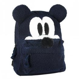 Ghiozdan Disney Mickey Mouse pentru fete, din plus, Negru, 34 cm