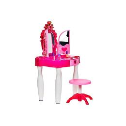 Masuta de infrumusetare pentru fete cu MP3, MalPlay, cu accesorii incluse, Roz, 75 cm inaltime