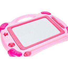 Tabla magnetica MalPlay roz cu forme pentru desen