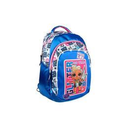 Ghiozdan pentru scoala, LOL Surprise Glitter cu lumini, Albastru, 47 cm